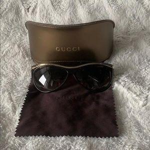 Gucci Gold Rimmed Sunglasses